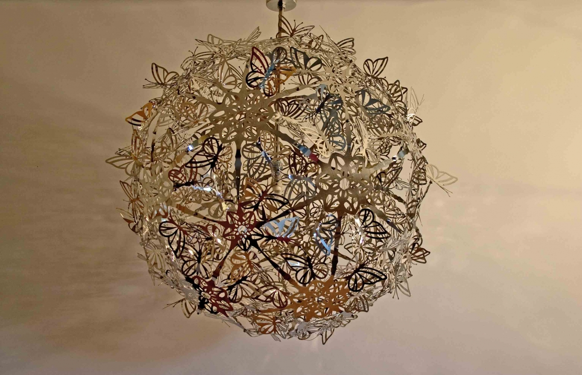 Lace Butterfly Pendant Light
