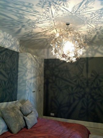 butterfly light in room setting