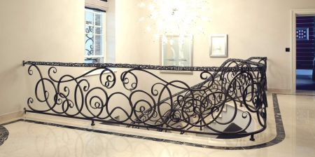 art deco balustrade