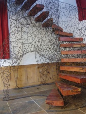 lattice of 6mm round bar helical stairs