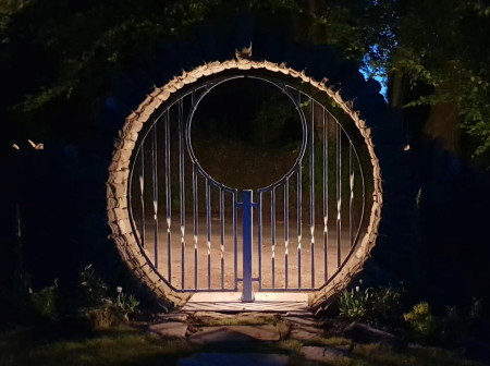 moon gate at night