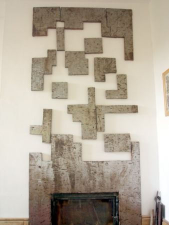 tetris wall sculpture