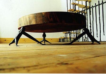 sweet chestnut rivet table
